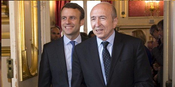 Emmanuel Macron et de Gérard Collomb.dans le collimateur des manifestants.