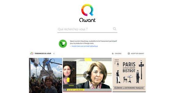 Qwant fait la promotion d'AkuoCoop sur sa page d'accueil