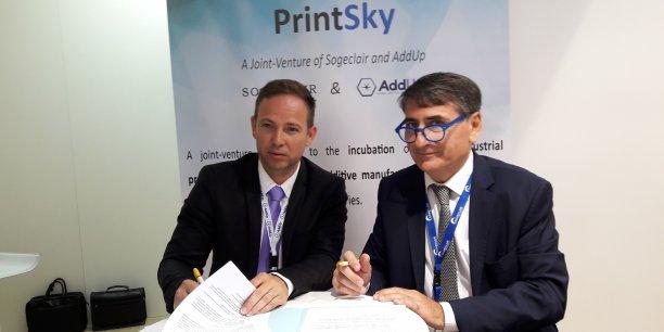 Vincent Ferreiro et Philippe Robardey au Bourget le 20 juin 2017