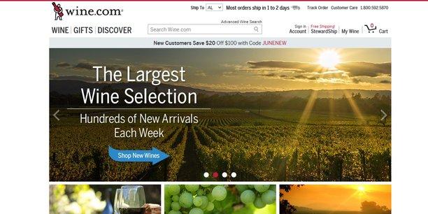 L'Américain Wine.com devient le meilleur site de vente de vin, devant Amazon.