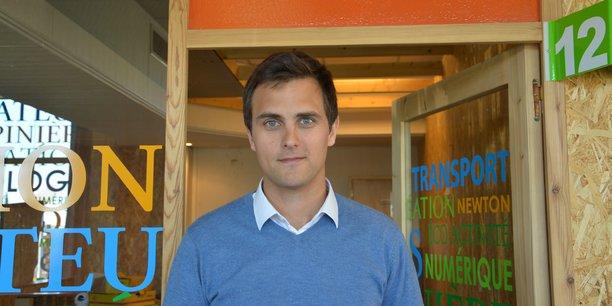 Hugues Defréville, président fondateur de la startup newHeat, basée à Bègles sur le site Newton de la technopole Bordeaux Technowest.
