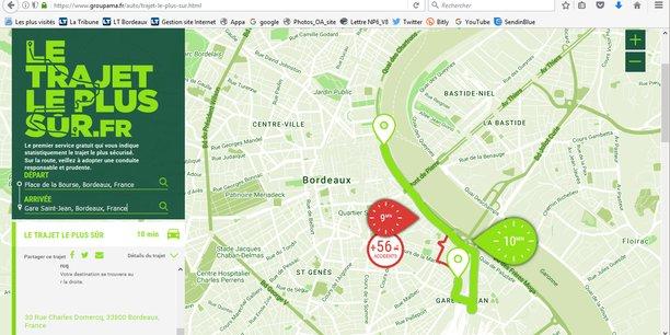 Sur LeTrajetLePlusSur.fr, le conducteur peut voir la différence de temps entre les deux trajets et faire son choix en toute connaissance de cause.