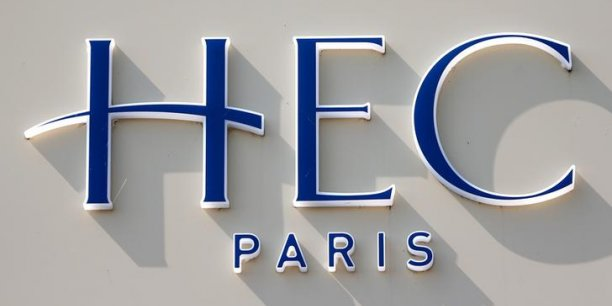 Le logo de HEC School of Management, située à Jouy-en-Josas, près de Paris, en France.