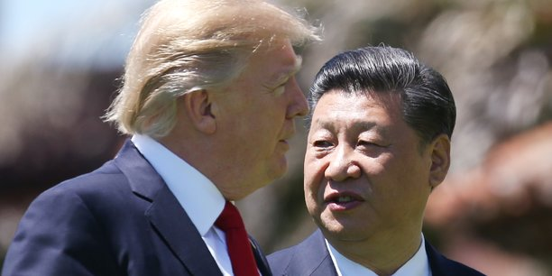 Donald Trump et Xi Jinping lors de leur unique rencontre, le 7 avril 2017, à Mar-a-Lago (Floride).