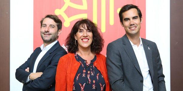 De gauche à droite : Jean-Christophe Tortora (président de La Tribune), Marie-Claire Uchan (maire de Saint-Bertrand-de-Comminges) et Nicolas Hazard (fondateur du Comptoir de l'Innovation INCO)