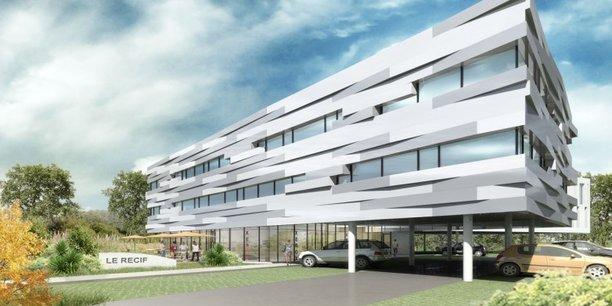 Un immeuble de bureaux réalisé par le groupe Essor à Biarritz.