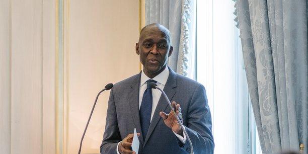 Makhtar Diop, vice-président pour l'Afrique de la Banque mondiale, lors de son intervention à paris dans le cadre de la présentation de l'étude Havas Horizons-Institut Choiseul sur les perspectives d'investissement en Afrique.