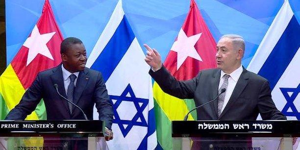 Le président togolais Faure Gnassingbe et le Premier ministre israélien Benyamin Netanyahu, lors d'une rencontre, le 10 août dernier dans l'Etat hébreu.