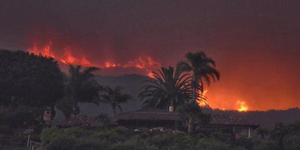 Progression des feux de foret dans le sud de la californie[reuters.com]