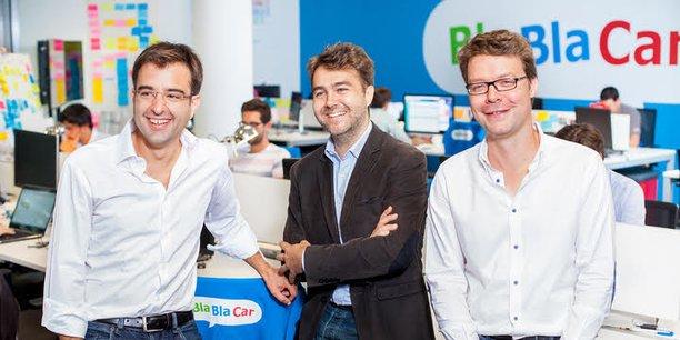 A chacun sa spécialité. Le volet innovation pour Frédéric Mazzella (au centre) et la stratégie de développement pour Nicolas Brusson.