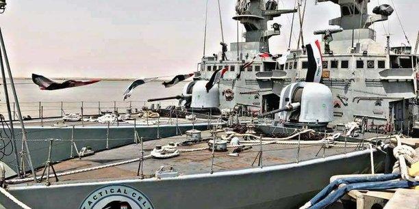 Les deux corvettes italiennes la Mussa ben Nassair et la Tariq Ibn Ziad, qui étaient bloquées depuis la première Guerre du Golfe en 1990 avec Bagdad, ont été livrées début juillet à la marine irakienne.