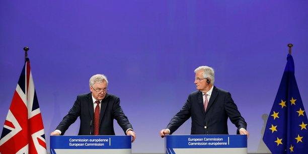 Une sortie ordonnée exige de solder les comptes, a de nouveau martelé Michel Barnier en salle de presse.