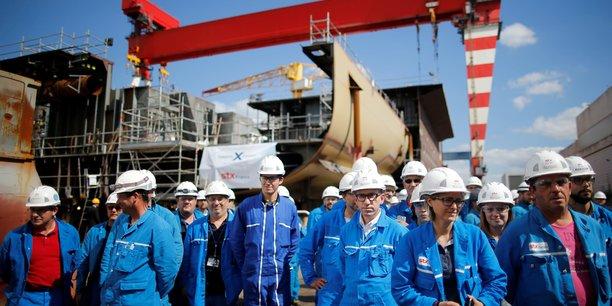 L'entreprise STX, dont l'État n'est plus l'actionnaire majoritaire depuis l'entrée dans le capital du finlandais New Aker Yards, a failli disparaitre en 2008.