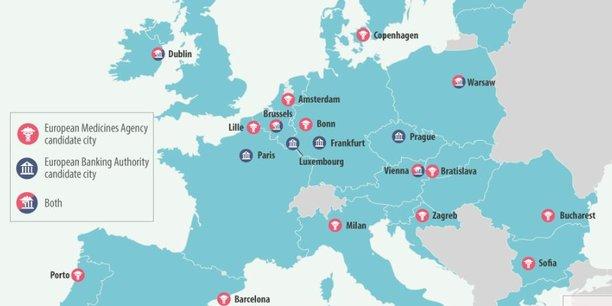 Les villes candidates pour accueillir les agences de l'UE — Brexit
