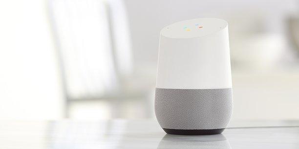 enceintes intelligentes google home arrive en france amazon et apple en embuscade. Black Bedroom Furniture Sets. Home Design Ideas