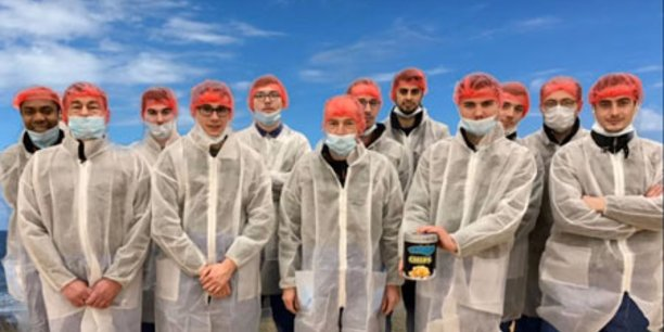 Les étudiants de l'Afpa ont conçu des chips glacées grâce à une capsule de neige carbonique