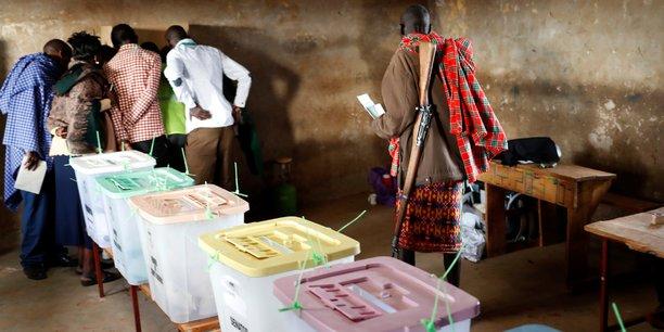 Démarrage des opérations de vote à Baragoy dans le district de Samburu au nord-est du Kenya. Mardi 8 août 2017.