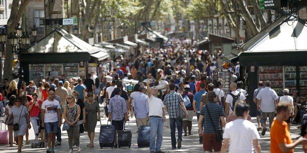 Les Ramblas, l'avenue la plus touristique de Barcelone.