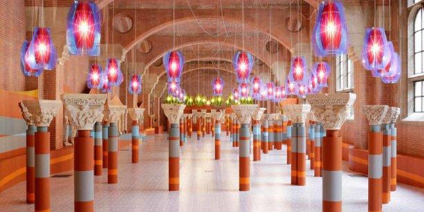 Installation de Jorge Pardo au Musée des Augustins dans le cadre du Festival international d'art de Toulouse, en 2014