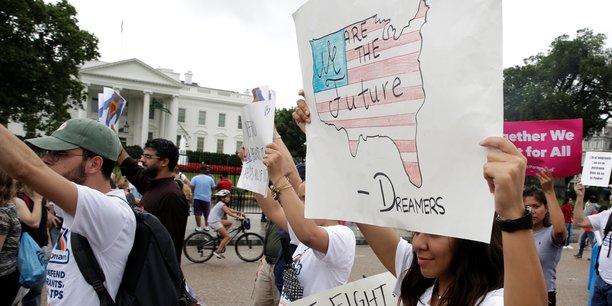 Manifestation pour le maintien du programme d'immigration Dreamers à Washington, le 15 août 2017.