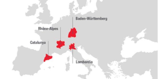 L'entente des Quatre moteurs pour l'Europe rassemble des régions figures de proue industrielles en Europe.