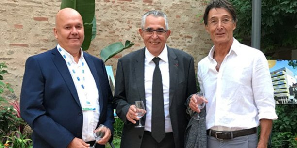 Emmanuel Aubertin (Directeur Régional Icade), Jean-Marc Pujol (Maire de Perpignan) et Daniel Parra-Bruguière (Directeur Icade Perpignan).