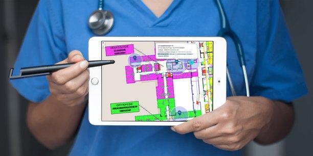 Apitrak développe un système de géolocalisation en intérieur pour les hôpitaux.