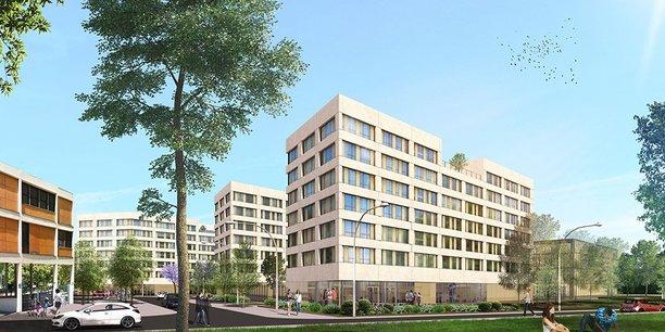 La résidence étudiante prévue sur le campus de la future Tony Parker Academy.