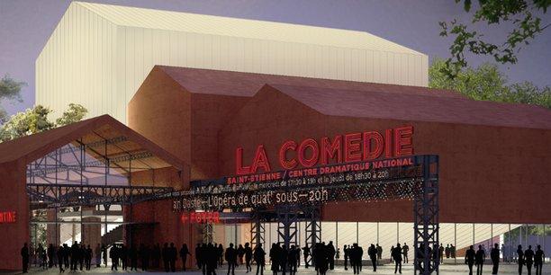 Le nouveau bâtiment de la Comédie est implanté en plein cœur du quartier créatif, à proximité de grands équipements culturels (Cité du design, Zénith, SMAC…).