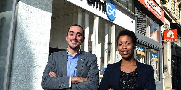 Ronan Le Boulaire, président du groupe Arcan, aux côtés de Cassandra Valmorin, nouvelle présidente de PermiGo 2.