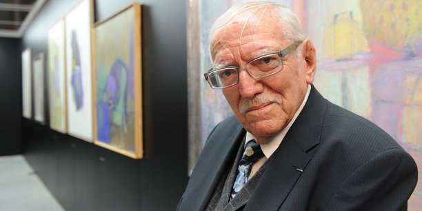 Jacques Truphémus lors de la grande rétrospective que la Région Rhône-Alpes, alors présidée par Jean-Jack Queyranne, lui consacra en 2012.