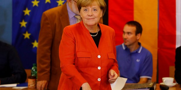 La chancelière sortante Angela Merkel est en passe de remporter une quatrième victoire consécutive aux législatives allemande.