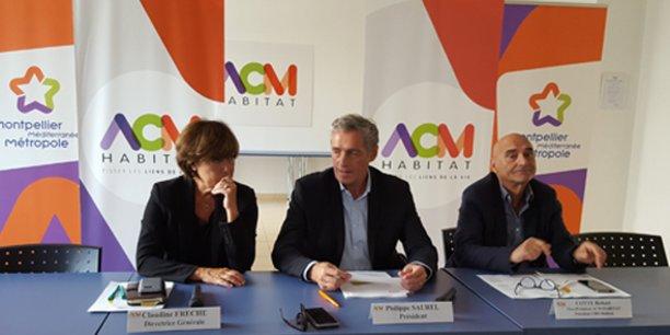 En réactions aux annonces sur le Plan Logement, Claudine Frêche, Philippe Saurel et Robert Cotte ont donné une conférence de presse le 22 septembre à Montpellier, chez ACM Habitat.
