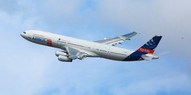 Le démonstrateur A340 BLADE d'Airbus réalise son premier vol