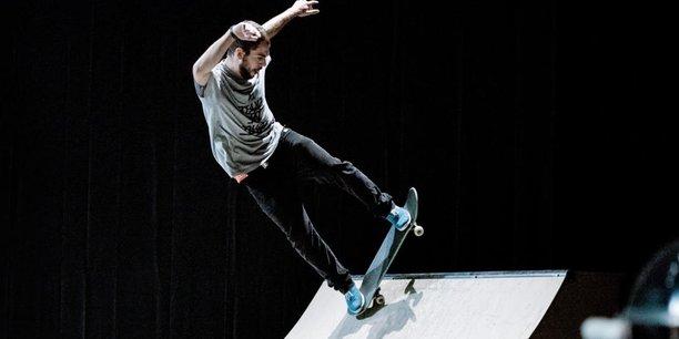 L'un des projets participatifs du théâtre : « Les Esqueiters », où des skateurs perpignanais s'invitent sur les planches