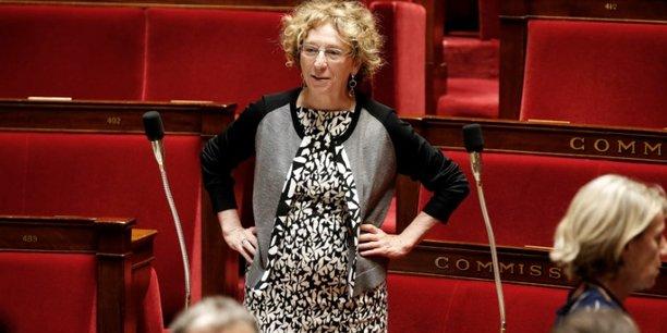 La ministre du Travail, Muriel Pénicaud, lors du passage au Sénat de la Loi travail.