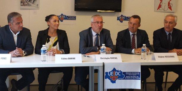 De g. à d. : Jean-François Fons, Fatima Dahine, Christophe Rivenq, Stéphan Rossignol et Joseph Francis