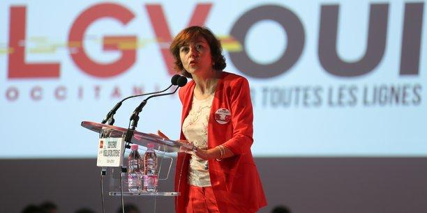 La présidente de la Région Occitanie Carole Delga compte sur la LGV pour désengorger l'agglomération toulousaine.