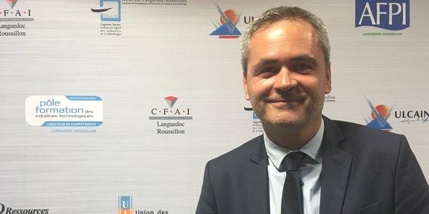 Le président du Medef Montpellier - Sète - Centre Hérault, Samuel Hervé