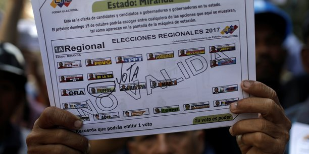 L'opposition venezuelienne denonce une manipulation avant les elections regionales[reuters.com]