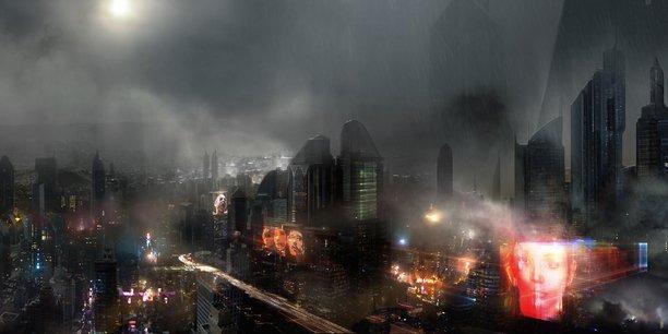 Dans ce monde à l'horizon 2050, c'est une société totalement urbaine, dans un monde détruit par les guerres nucléaires et le changement climatique, qui est dessinée, traversée par une profonde solitude entre les êtres qui la constituent, quelle qu'en soit l'origine. (Image d'artiste pour le film Blade Runner 2049)