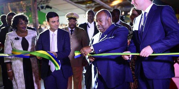 Le président Ali Bongo inaugurant le nouveau port d'Owendo où a été lancée l'opération « Aigle Douanes ».