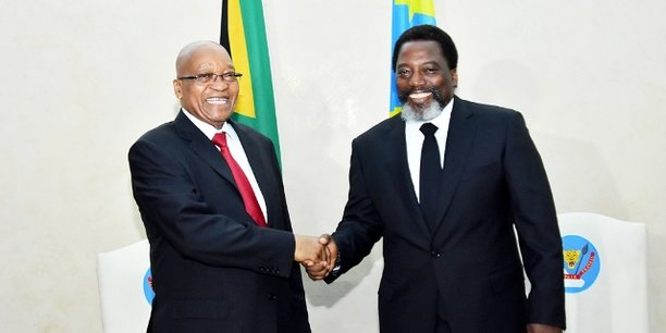 Le président sud-africain Jacob Zuma et le président de la République démocratique du Congo, Joseph Kabila.