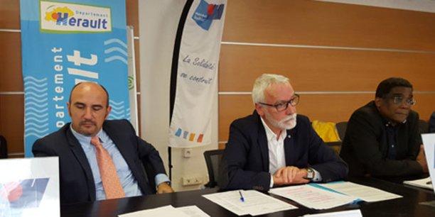 Vincent Gaudy et Jean-Pierre Pugens, président et directeur général de Hérault Habitat.