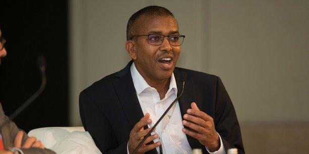 Ismail Ahmed, fondateur et CEO de WorldRemit, lors de son intervention à la conférence internationale « Africa Convergence » organisée par « La Tribune Afrique », le 29 septembre 2017.