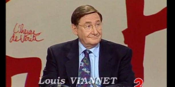 Louis Viannet avait succédé à Henri Krasucki en 1992 et a été l'artisan de la rénovation du syndicat en amorçant la rupture avec le Parti communiste. Ici, en novembre 1993, il était l'invité de l'Heure de vérité.
