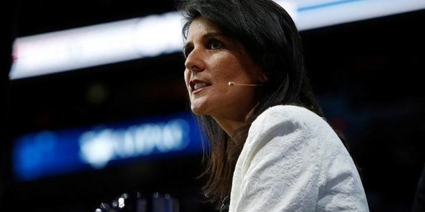 Nikki Halley, ambassadrice des Etats-Unis à l'ONU