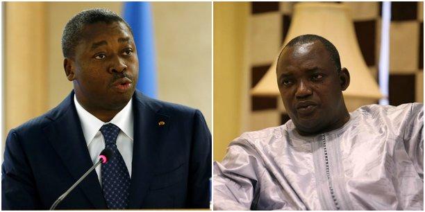 Le département de Ousainou Darboe souligne que la Gambie et le Togo « restent liés par des liens solides d'amitié et de fraternité » et que les deux dirigeants, Adama Barrow (à droite) et Faure Gnassingbé, voudraient voir ces relations renforcées dans les années à venir.