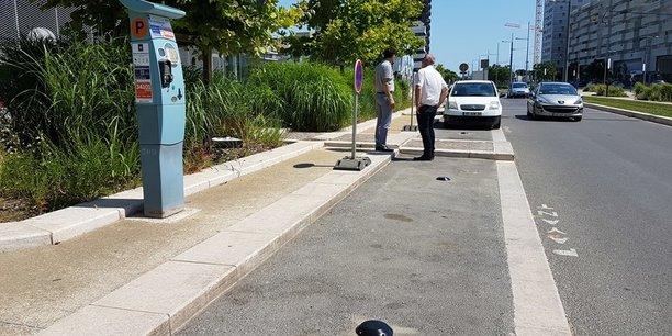 Les capteurs smart parking sont intégrés dans la chaussée