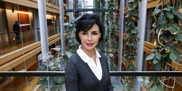 Rachida Dati au siège du Parlement européen à Strasbourg, en France.